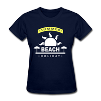 Summer Beach Holiday Design #4 - Women's Tee - navy
