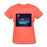 Camping on the Lake - Women's - heather coral