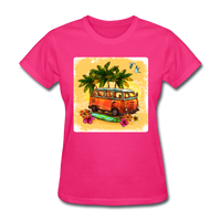 VW Bus Surfing - Women's - fuchsia
