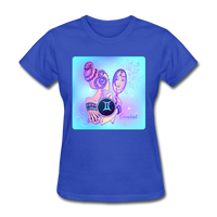 Gemini Lady on Blue - Women's - royal blue