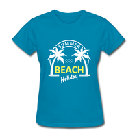 Summer Beach Holiday Design #3 Women's Tee - turquoise
