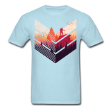 Geometric Hiking Pose - Men's - powder blue