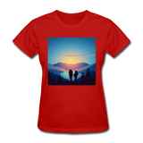 Backpackers at Sunset - Women's - red