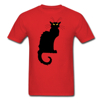 Black Cat with Yellow Eyes - Men's - red