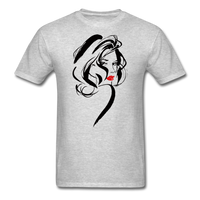 Woman with Red Lips - Men's - heather gray