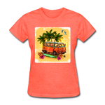 VW Bus Surfing - Women's - heather coral