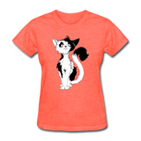 Black Tailed Cat - Women's - heather coral
