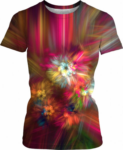 Rose Splash Fractal - Women's Tee