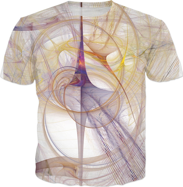 Purple and Yellow Fractal - Unisex Tee