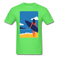 Lady with Surf Board - Unisex - kiwi