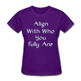 Align With - Ladies - purple