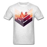Geometric Hiking Pose - Men's - light heather grey