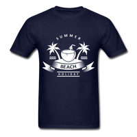 Summer Beach Holiday - Men's Tee - navy