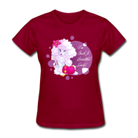 Beautiful Lady Poodle - Women's - dark red