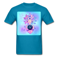 Leo Lady on Blue - Unisex - turquoise
