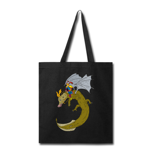 Hero Riding Monster - Tote - black