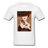 A Chocolate Eating Classy Lady - Men's - white