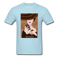 A Chocolate Eating Classy Lady - Men's - powder blue