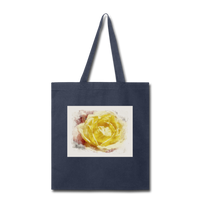 Yellow Rose Watercolor - Tote - navy