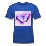 Purple and Blue Sketch Butterfly - Men's - mineral royal