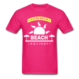 Summer Beach Holiday Design #4 - Men's Tee - fuchsia