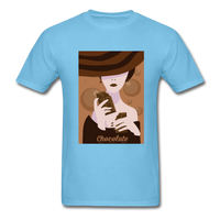 A Chocolate Eating Classy Lady - Men's - aquatic blue
