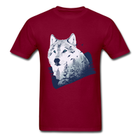 Wolf in the Forest - Men's - burgundy