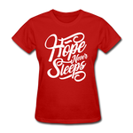 Hope Never Sleeps - red