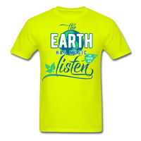 The Earth Has Music - Men's Tee - safety green