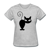 Black Cat Turning Around - Women's - heather gray