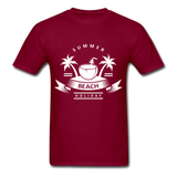 Summer Beach Holiday - Men's Tee - burgundy