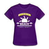Summer Beach Holiday Design #4 - Women's Tee - purple