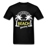 Summer Beach Holiday Design #3 - Men's Tee - black