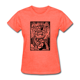 Robot Attack - Women's Tee - heather coral