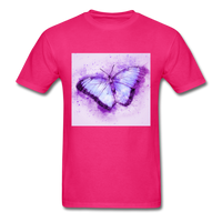 Purple and Blue Sketch Butterfly - Men's - fuchsia