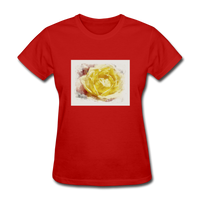 Yellow Rose Watercolor - Women's - red