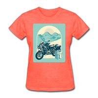 Motorcycle in the Mountains - Women's - heather coral