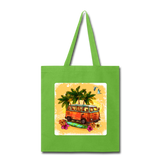 VW Bus Surfing - Tote - lime green