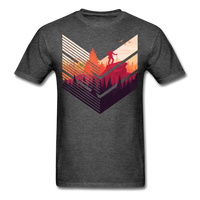Geometric Hiking Pose - Men's - heather black
