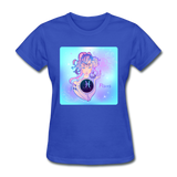 Pisces Lady on Blue - Women's - royal blue