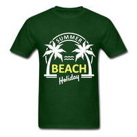 Summer Beach Holiday Design #3 - Men's Tee - forest green