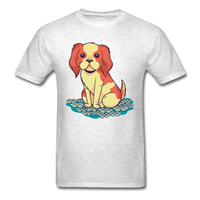 Happy Puppy 2 - Unisex - light heather grey
