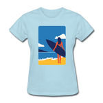 Lady with Surf Board - Women's - powder blue
