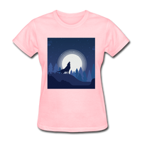 Wolf Howling at Moon - Women's - pink