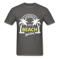 Summer Beach Holiday Design #3 - Men's Tee - charcoal