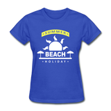 Summer Beach Holiday Design #4 - Women's Tee - royal blue