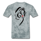 Woman with Red Lips - Men's - grey tie dye