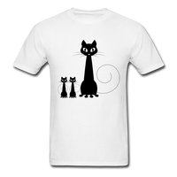 Black Cat Family - Men's - white