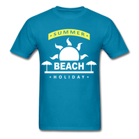 Summer Beach Holiday Design #4 - Men's Tee - turquoise