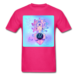 Leo Lady on Blue - Unisex - fuchsia